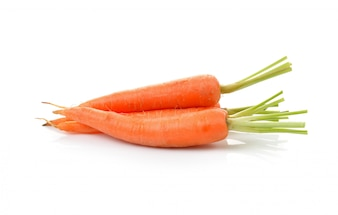 Baby carrot isolated on white background