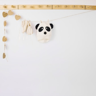Baby clothes on rope