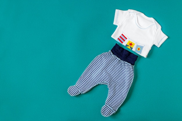 Baby clothing. concept of newborns, motherhood, care, lifestyle.