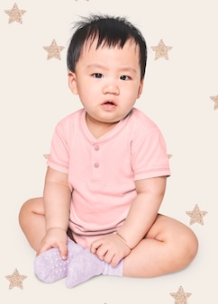 Baby clothing shoot in studio