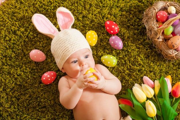 아기 부활절 토끼