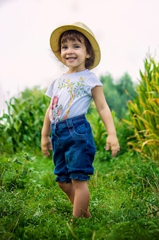 Baby in the field of corn