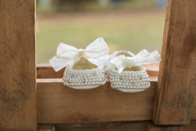 Baby girl shoes - baptism