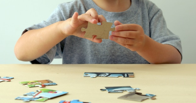 Baby hand fold puzzle