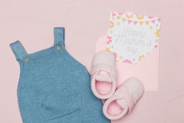 Baby outfit with card for mothers day