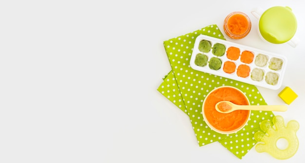 Детское пюре из овощей