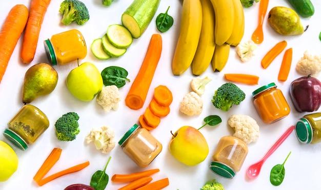 Детское пюре с овощами и фруктами