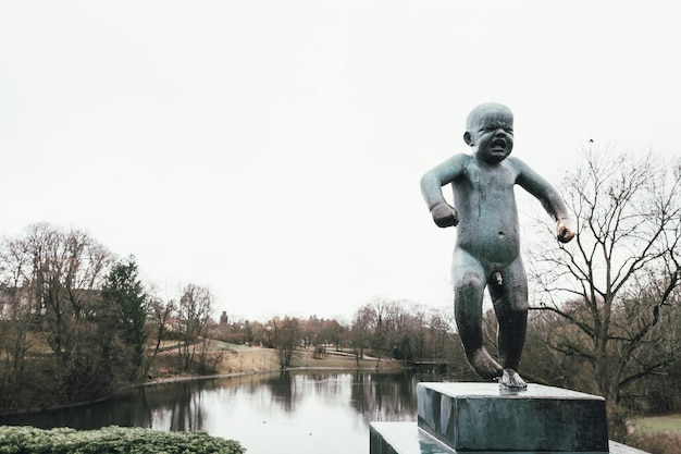 Baby sculpture in vigeland park