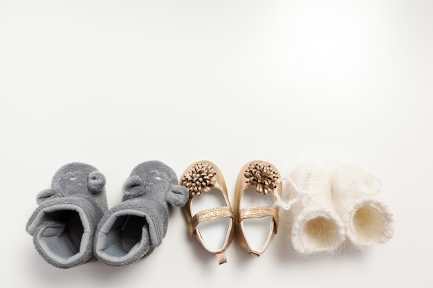 Baby shoes isolated on the white