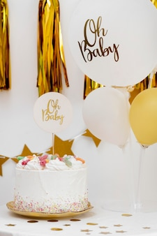 Baby shower concept with balloons