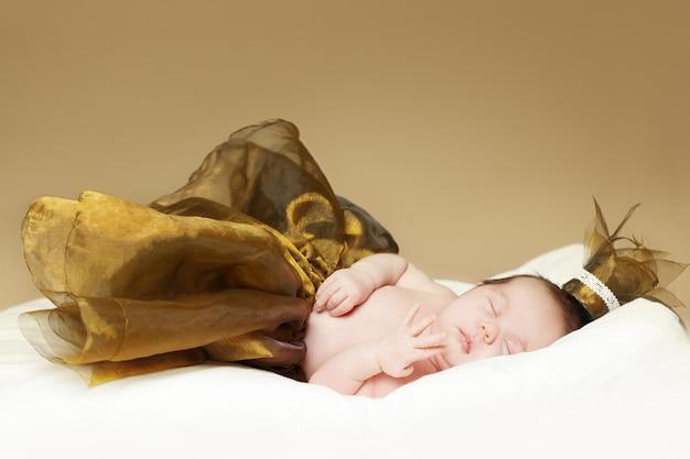 Baby, sleeping newborn - fine-art portrait, baby up to one month