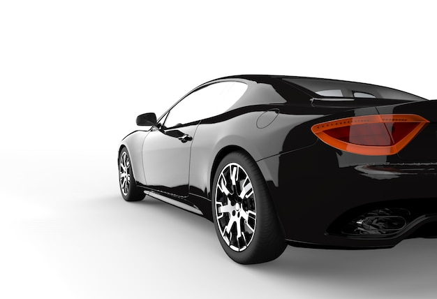 Back black car