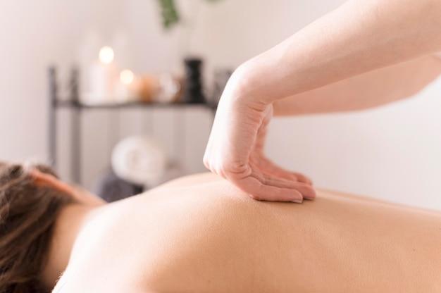 Back massage technique