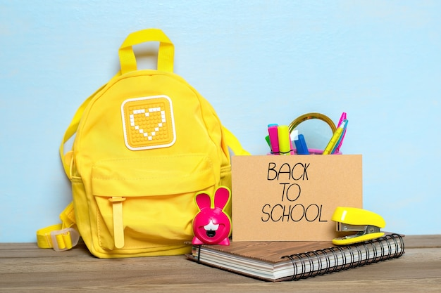 Back to school composition with school supplies