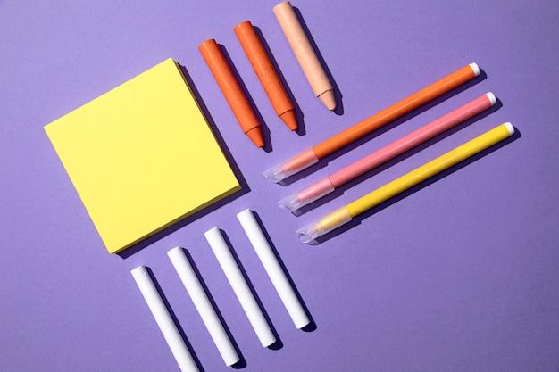 Back to school concept arrangement