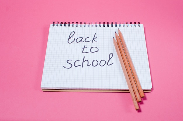 Back to school. the concept of the return to school season.