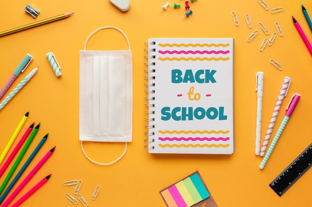 Back to school in the new normal with a mask