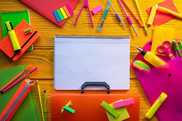 Back to school supplies vivid arrangement