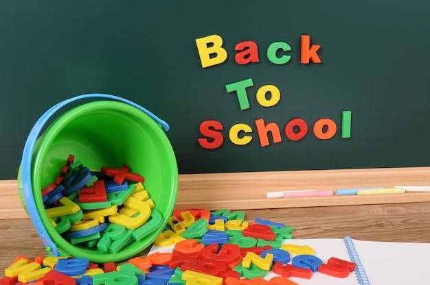 Back to school with alphabet letters