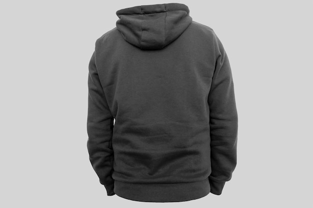 Back side black hoodie