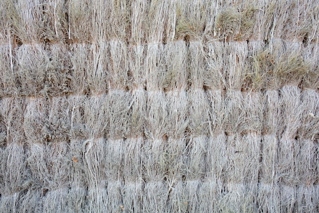 Back side of brown bamboo straw mat as abstract texture