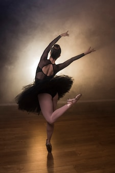 Back view ballet choreography