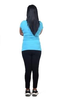 Back view of woman in sportswear