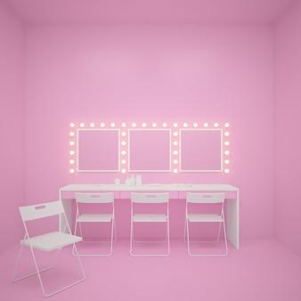 Фон для розового макияжа. 3d рендеринг