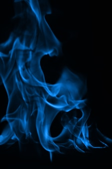 Голубое пламя огня как абстрактное backgorund