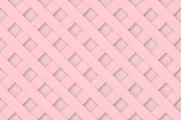 Бесшовный пастельный тон розовый цвет деревянной панели в диагональном квадратном узоре стены backgorund.