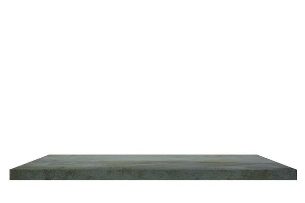 Цементная полка на белом backgorund.