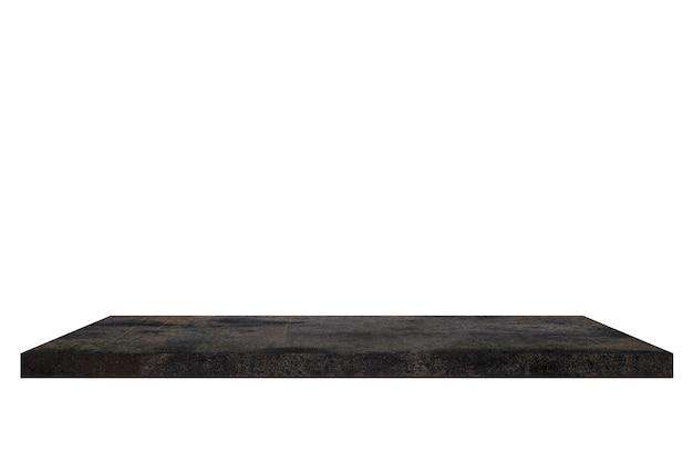 Старая цементная полка на белом backgorund.