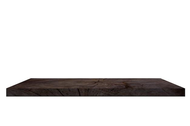 Деревянная полка на белом backgorund