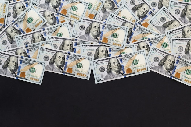 Background of 100 dollar notes