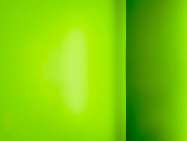 緑の壁の隅の背景とテクスチャ。