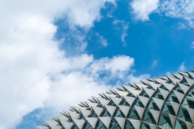 Background of architecture detail, roof of esplanade concert hall, singapore