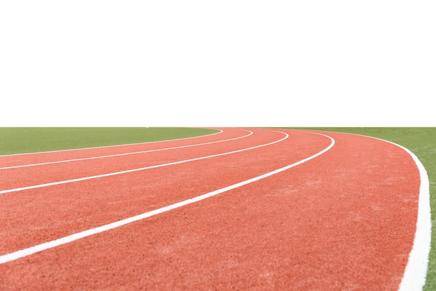 Background of atheletics running track, with blank area.
