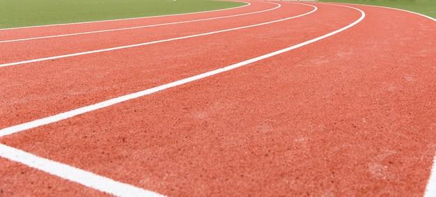 Background of atheletics running track.