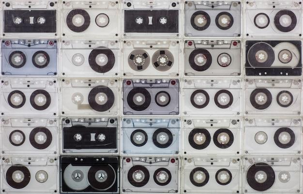 Фон аудиокассеты винтаж