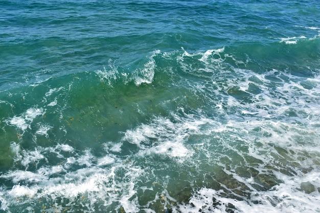 배경, 푸른 맑은 바다 물