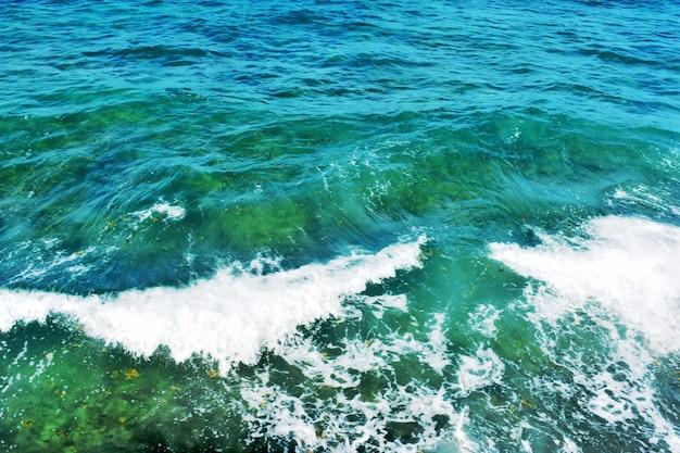 Фон, синяя чистая вода океана
