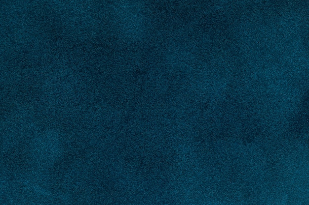 Background of blue velvet textilr, closeup