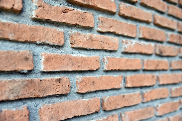 Background of brick wall texture. old red brick wall.