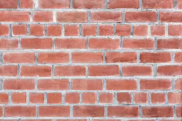Background of brick wall texture, red colored