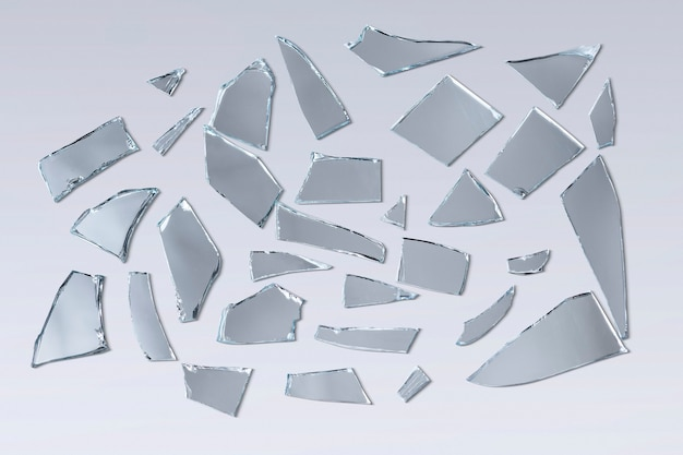 Background of broken mirror shattered glass