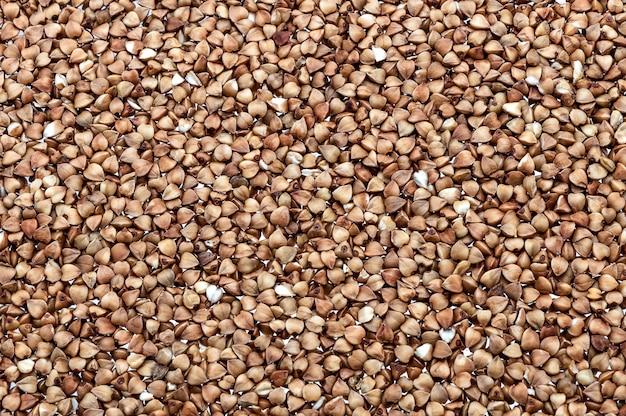 Background of buckwheat groats