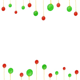 Background of christmas card. with green and red light