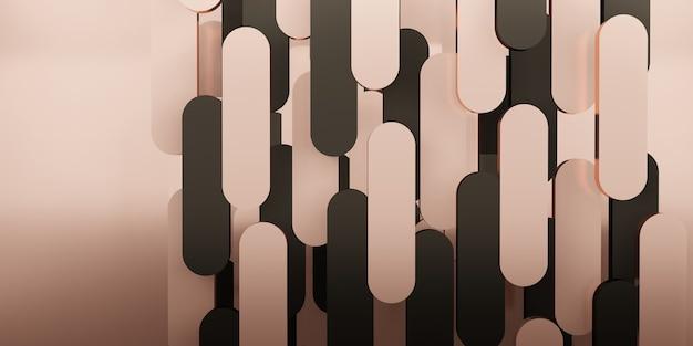 Фон классический стиль сцена ретро розовое золото 3d иллюстрация