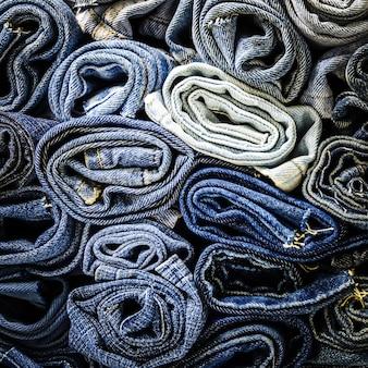 Фон крупным планом джинсовой ткани джинсовой ткани