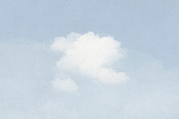 Фоновое облако на иллюстрации голубого неба